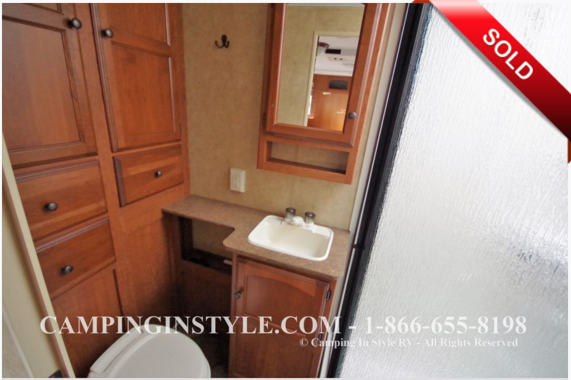 SOLD - Our Trailer - Bath and Cupboards