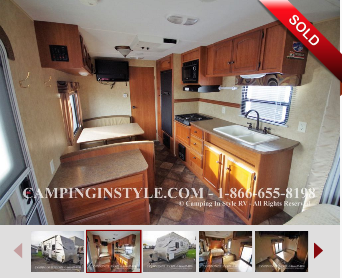 SOLD - Our Trailer - Kitchen