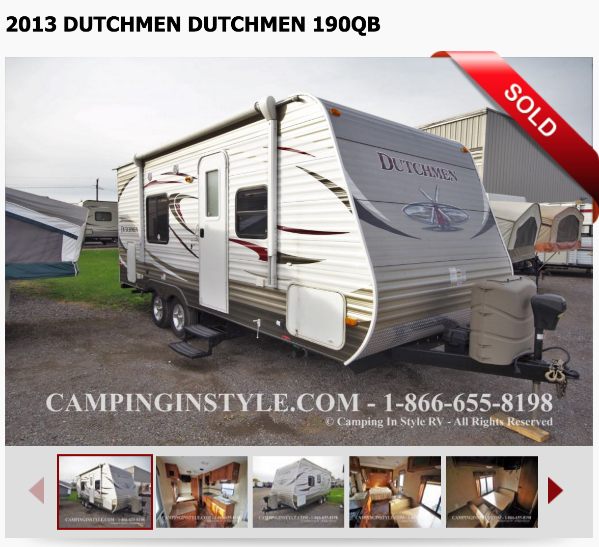 SOLD - Our trailer - Outside